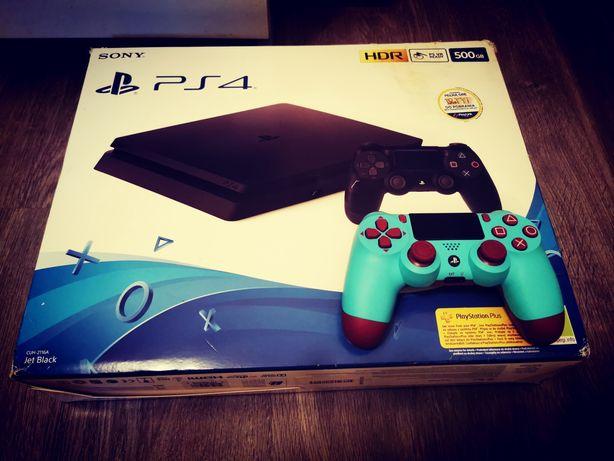 Playstation 4 PS4 Slim Jak Nowa Dysk 1Tb SSD + Pad + Gra Fifa