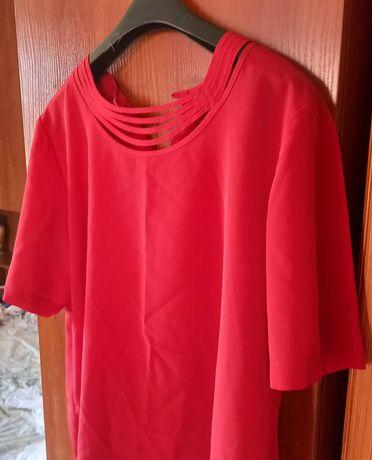 Блуза-топ в изумительном красном