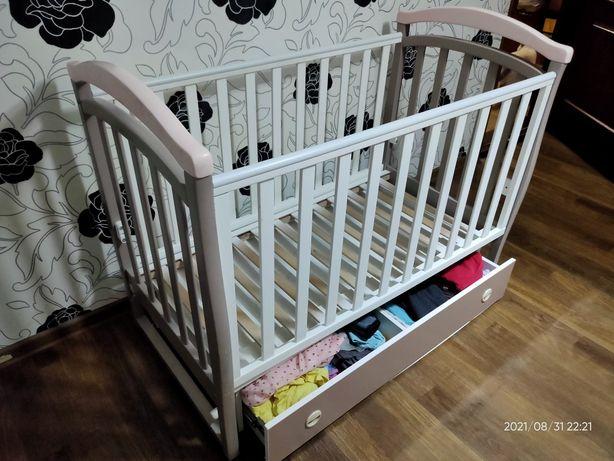 Детская кроватка Veres из натурального дерева с маятником ТОРГ!