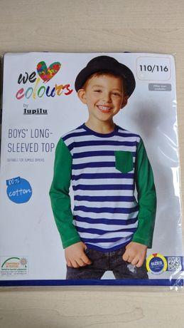 NOWA bluzka T-shirt z długim rękawem 110/116 Lupilu