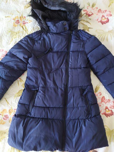 Новое зимнее пальто Next девочке 7-8 лет