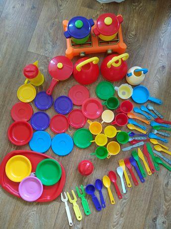 Большой набор детской посуды