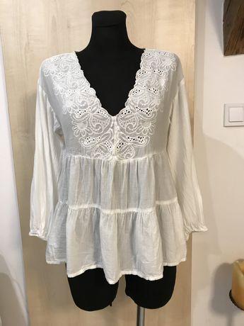 Cudna biala bluzka w stylu boho rozmiar xs