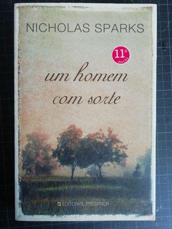 """Livro Nicholas Sparks """"Um homem com sorte"""" (NOVO)"""