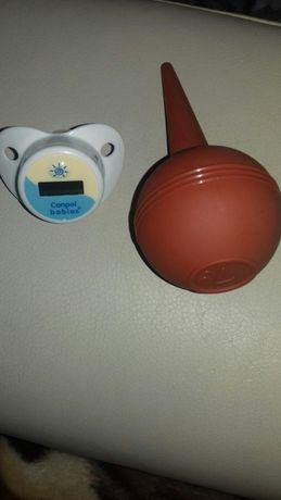 Termometr w smoczku i gruszka