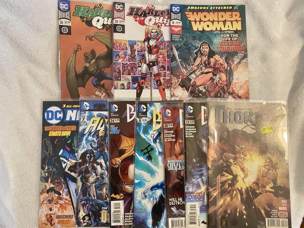 Bandas Desenhada Harley Quinn, Wonder Woman, Aquaman, Thor, Batgirl