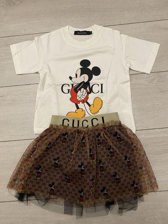 Распродажа!!!Костюм для девочки,юбка,футболка Giccu