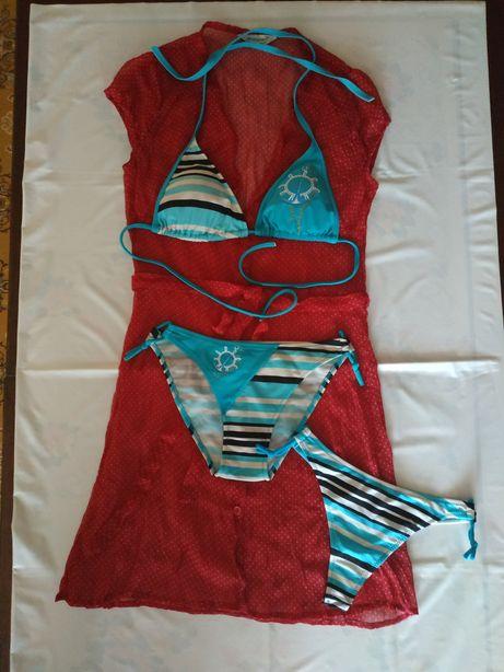 Подростковый купальник+пляжное платье
