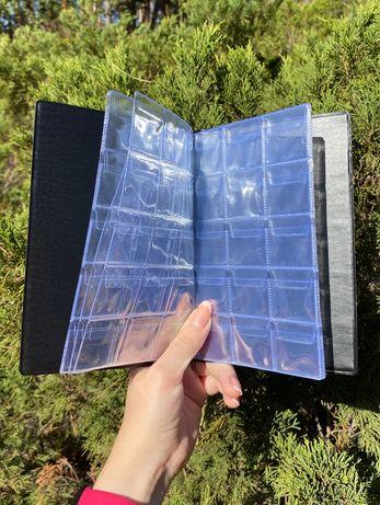 16 листов ячейка 35х35 мм Альбом для 240 монет