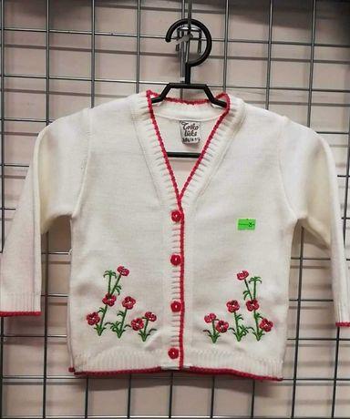 WYPRZEDAŻ! Niemowlęce sweterki haftowane - super na jesień!#