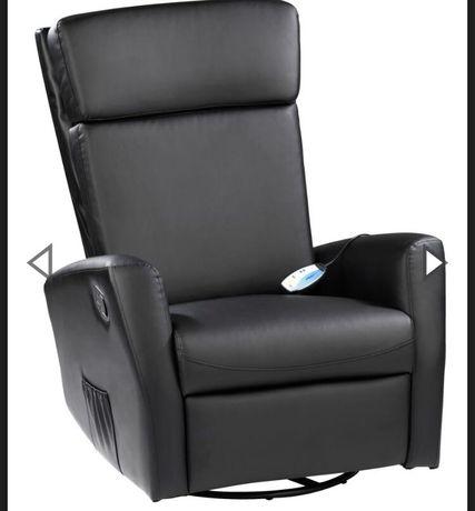 Sprzedam fotel relax czarny z masazerem