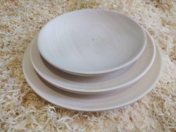 Деревянные тарелки полукруглые