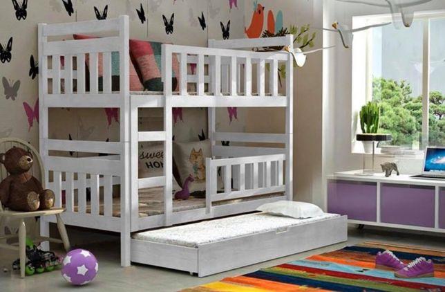Łóżko dziecięce Staś! Trzy osobowe! Piętrowe! Kolory do wyboru!