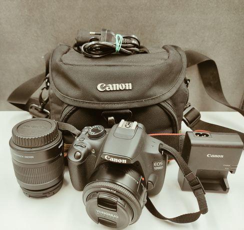 Canon EOS 1200D + 2 obiektywy EFS 18-55, YN-50mm + Torba. Lombard Łódź