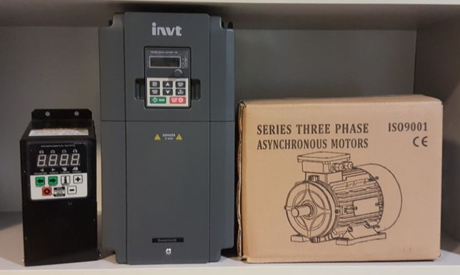 Частотный преобразователь, частотник, инвертор, редуктор, двигатель