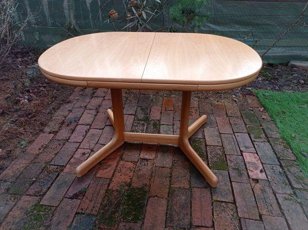 Duży stół półokrągły rozkładany drewno