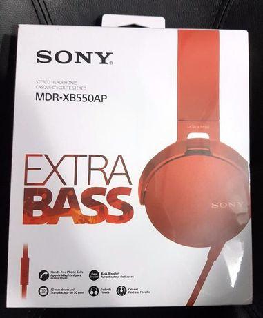 Słuchawki Sony EXTRA BASS MDR-XB550AP czerwone