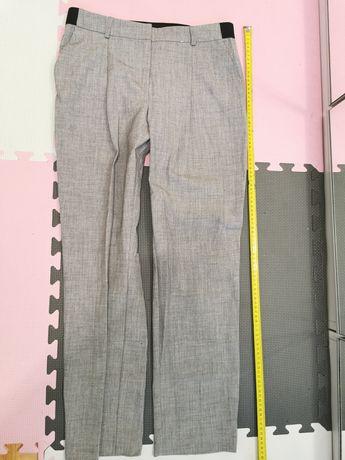 Zara eleganckie szare spodnie 38 (M)