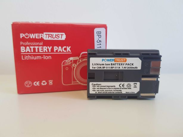 Baterias 2650mAh NOVAS BP-511 p/ Canon
