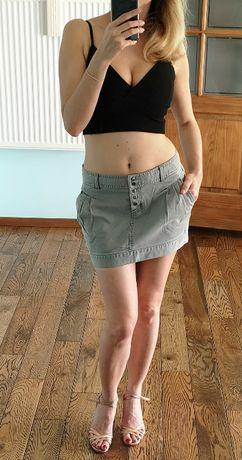 Szara spódnica RESERVED mini 38 biodrówka