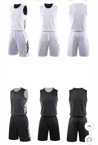 Футболка с шортами, двусторонний черно белый комплект, материал дышащи