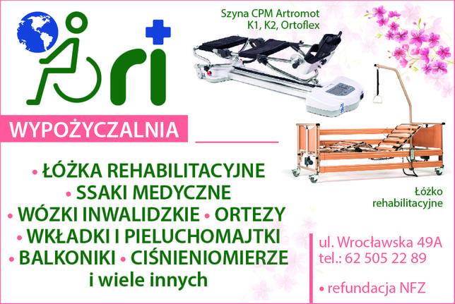 Łóżko rehabilitacyjne Wypożyczalnia 99 zł Jarocin