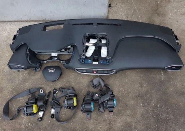 Hyundai Santa FE cintos airbags tablier