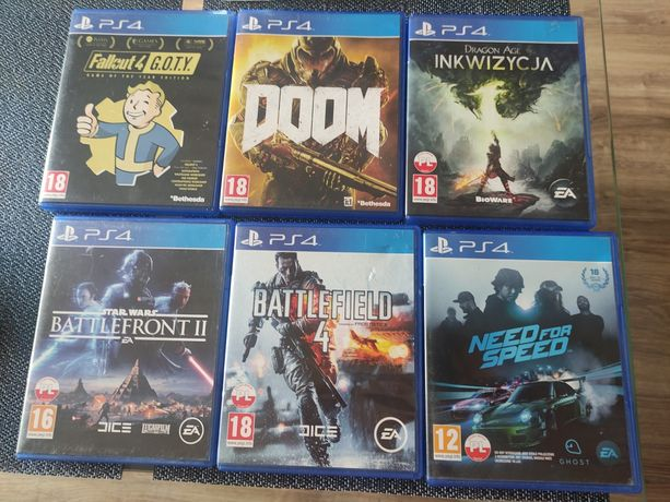 Gry ps4, Battlefield 4, dragon Agę,need for speed, doom, battlefront 2