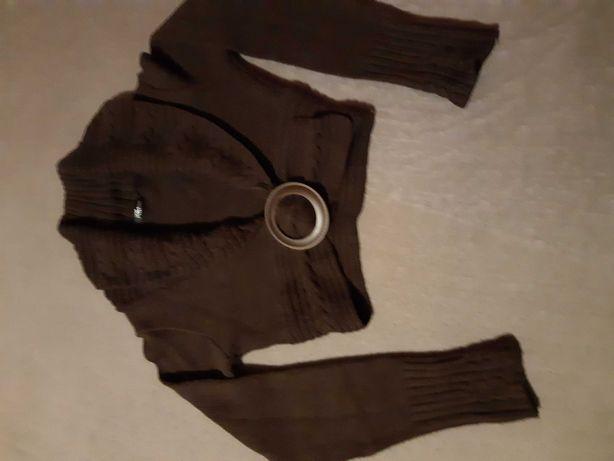 Sweterek z dzianiny krotki, dekoracyjny r. 38