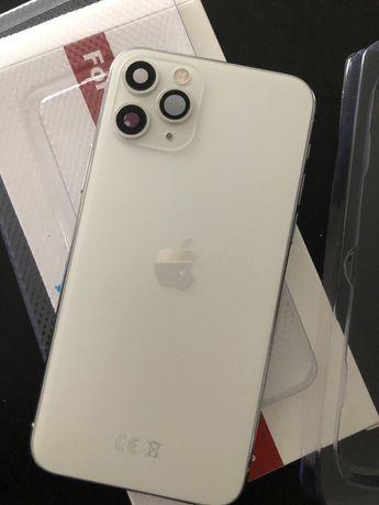 Iphone 11pro branco traseira capa carcaça