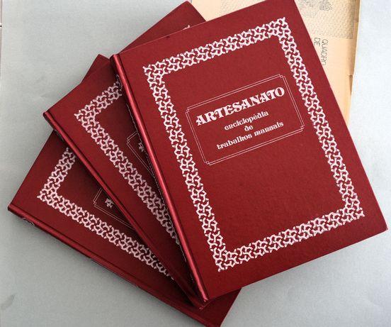 """""""ARTESANATO: enciclopédia de trabalhos manuais"""" em 3 volumes"""