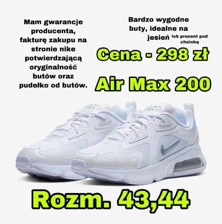 Buty Nike Air Max 200 białe rozm 43 i 44