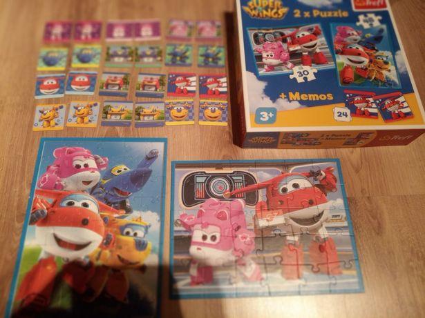 Puzzle Super Wings 2 szt.+ Memory, wiek 3+
