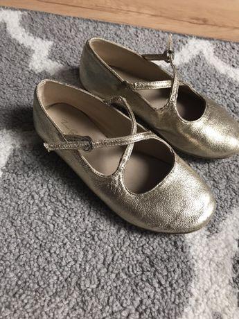 Zara złote balerinki r.29