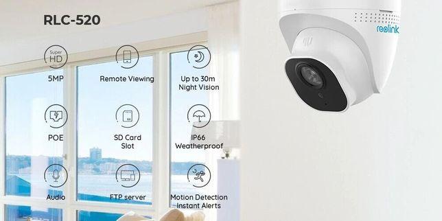 Уличная IP камера видеонаблюдения Reolink RLC-520-5MP POE