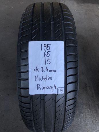 1szt p.nowa Michelin Primacy4 195/65/15, 19rok, 7.6mm
