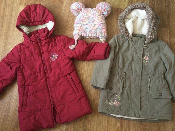 Пакетом 2 куртки лотом: пальто staccato + пальто парка george 3-4 г