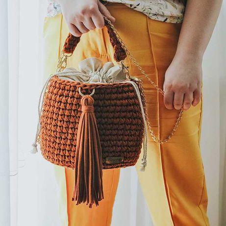 Bucket Bag - Persimmon (Kolor unikatowy), Rękodzieło marki Nawo Design