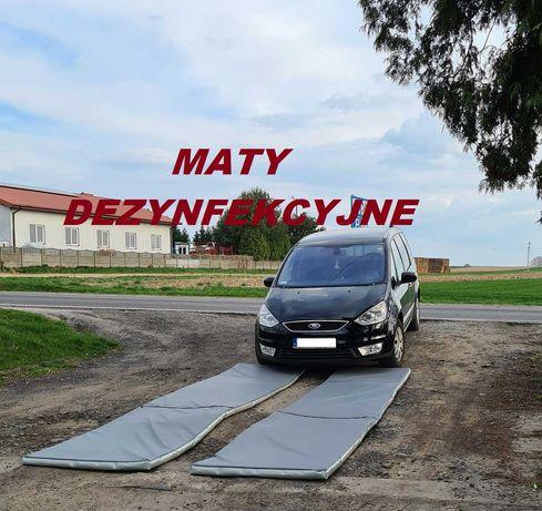 Maty, Mata 100x500x5 do dezynfekcji, dezynfekcyjna, PTASIA GRYPA ASF