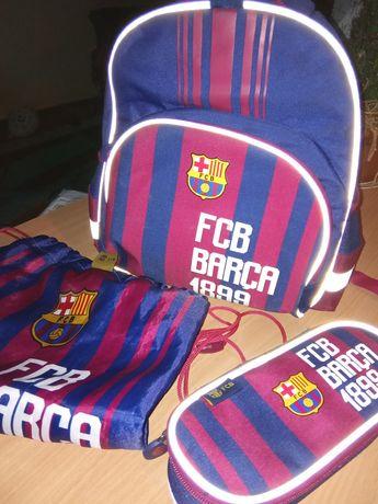 FC Barcelona piłka nożna plecak worek piórnik