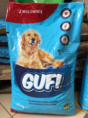 Karma sucha dla psa, psów, GUFI 10kg z wołowiną