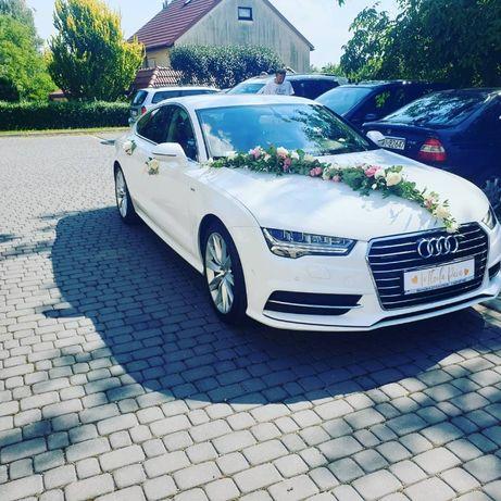 Audi A7 s-line auto samochód do ślubu