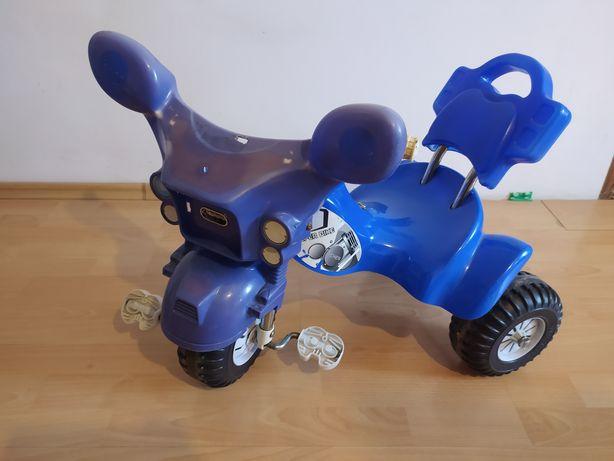 Rowerek dla dzieci niebieski trzykołowy dla chłopca 2-4 lat