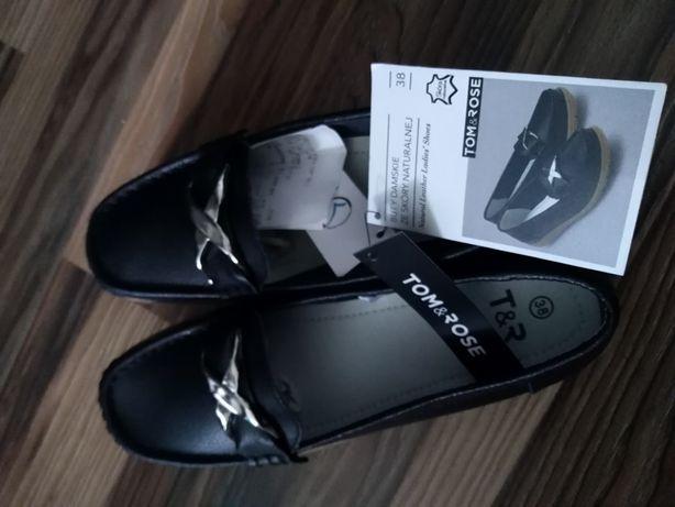 Nowe buty damskie 38 skóra naturalna
