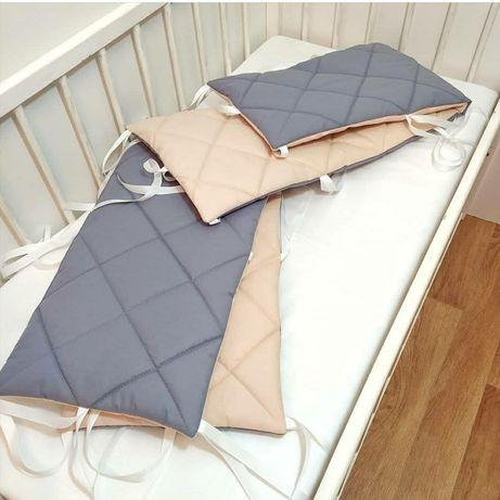 Стеганные бортики (защита) на 4 стороны кроватки