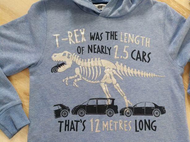 H&M bluza dinozaur 122
