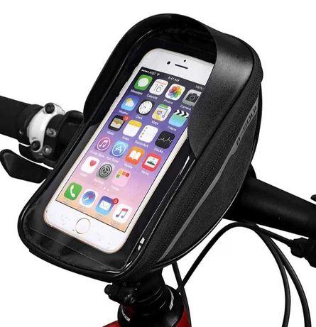 Bolsa de bicicleta para telemovel e acessórios