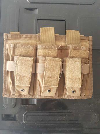 Airsoft 3 m4 mag pouch mais 3 pistol pouch