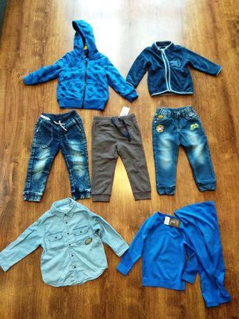 Spodnie, bluzy, koszula dla chłopca rozm. 98