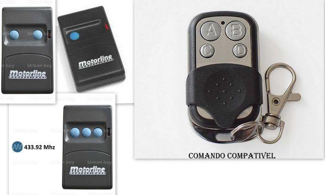 Comando de garagem compatível com MOTORLINE MX